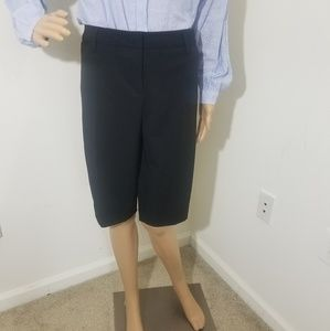 NWT Women's Larry Levine Dress Bermuda Work Shorts